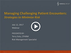 Webcast Replay: Managing Challenging Patient Encounters